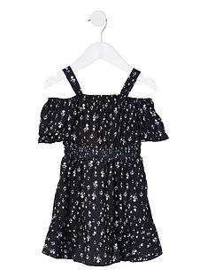 river-island-mini-mini-girls-floral-bardot-dress--nbspblack