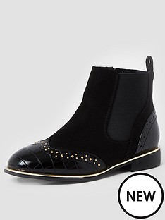 river-island-girls-croc-studded-bootsnbsp--black