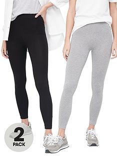 v-by-very-2-pack-high-waisted-leggings-blackgrey-marl