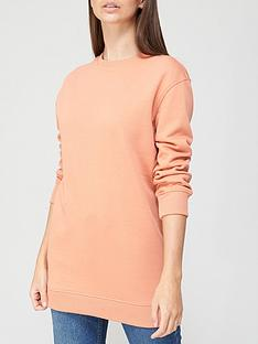 v-by-very-valuenbsplongline-crew-neck-sweat-coral