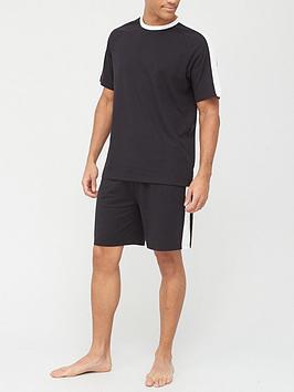 very-man-valuenbspside-panel-t-shirt-amp-short-set-black