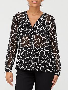 v-by-very-georgette-blouse-mono-print