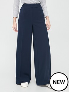 v-by-very-twill-wide-leg-trouser-navy