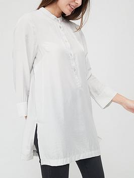 v-by-very-collarless-relaxed-blouse-silver