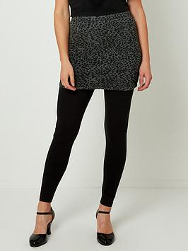 joe-browns-jacquard-2-in-1-skirted-leggings-black