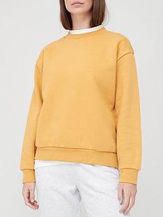 v-by-very-basic-crew-neck-sweat-mustard