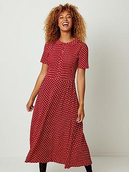 joe-browns-perfect-polka-dot-dress-red