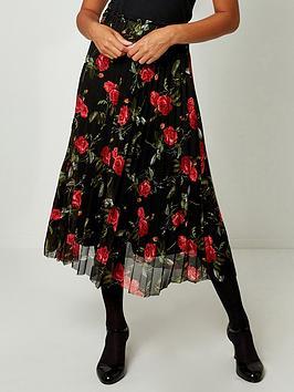 joe-browns-pleated-mesh-skirt-black