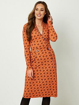 joe-browns-crafty-collar-dress-burnt-orange