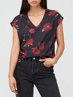 v-by-very-v-neck-grown-on-sleeve-t-shirt-rose-print