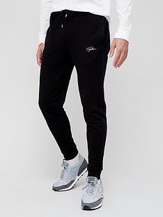 topman-signature-logo-skinny-fit-joggers-black