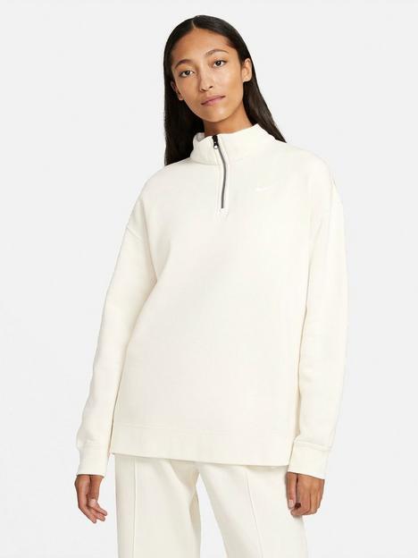 nike-nsw-quarter-zip-trend-sweatshirt-off-white