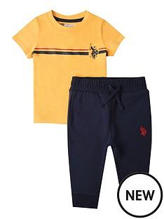 us-polo-assn-toddler-boys-2-piece-chest-striped-short-sleeve-t-shirt-and-jog-set-yellownavy