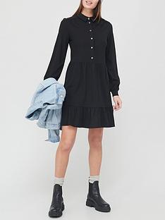 v-by-very-long-sleevenbspshirt-mini-dress-black