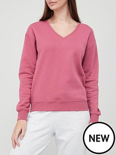 v-by-very-v-neck-sweat-top-rose