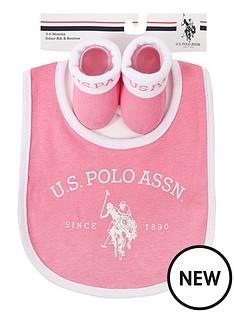 us-polo-assn-baby-girl-bib-and-booties-set-pink