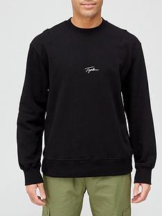 topman-signature-logo-crew-neck-sweatshirt-blacknbsp