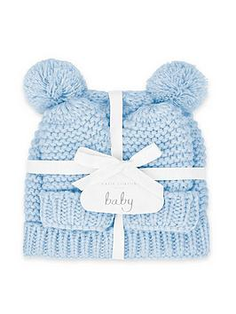 katie-loxton-baby-hat-and-mittens-set-blue-0-6-months
