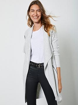 mint-velvet-ottonman-zip-shoulder-long-cardi-silver