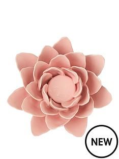 pink-flower-tealight-holder