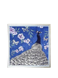 arthouse-oriental-peacock-capped-canvas-with-gold-foil