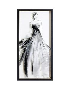arthouse-lady-premium-framed-print-with-glitter-highlights