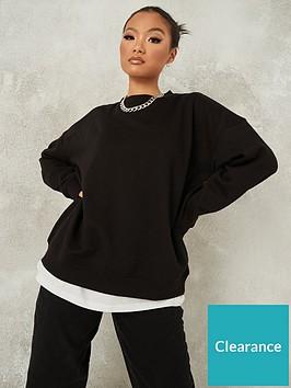missguided-missguided-oversized-crew-neck-sweatshirt-black