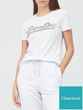 superdry-vintage-logo-sequin-t-shirt-grey