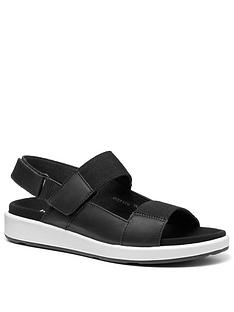 hotter-step-flat-sandals-blackwhite