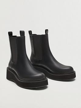 mango-pu-platform-wedge-ankle-boot-black