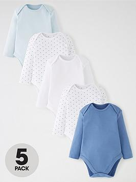 mini-v-by-very-baby-boys-5-pack-long-sleeve-essentialnbspbodysuits-blue-mix