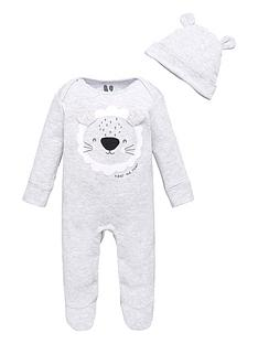 mini-v-by-very-baby-boys-lionnbspsleepsuit-and-hat-grey-marl