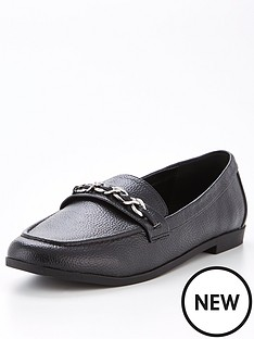 v-by-very-madelyn-chain-trim-loafer-black