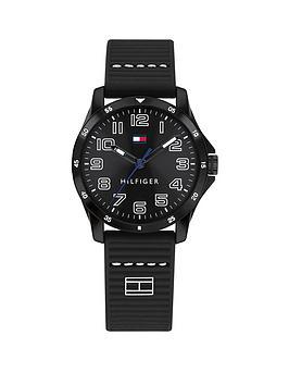 tommy-hilfiger-black-dial-black-silicone-strap-childrensnbspwatch
