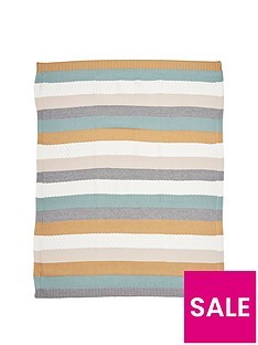 mamas-papas-knitted-blanket-multi-stripe-blue