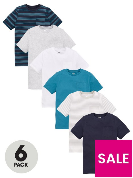 v-by-very-boys-6-pack-short-sleeve-pocket-t-shirts-teal