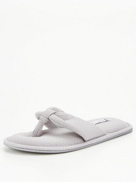 v-by-very-toe-post-slipper-grey