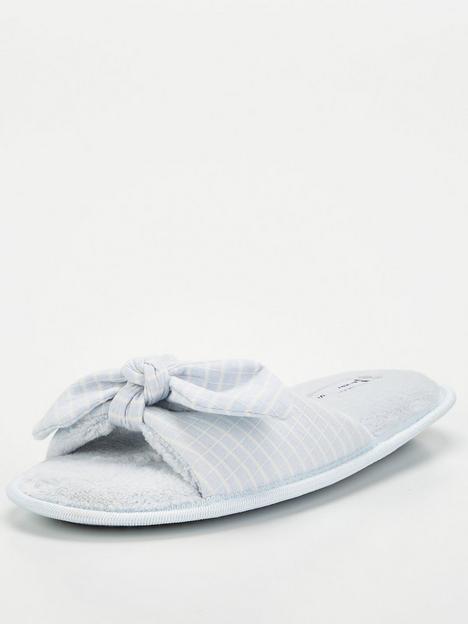 v-by-very-bow-knot-slider-slipper-blue