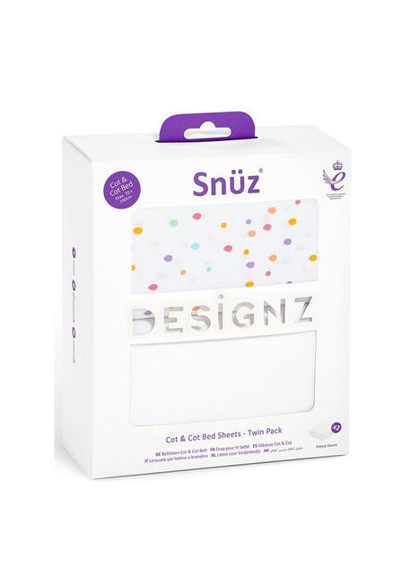 snuz-cot-amp-cot-bed-2-pack-fitted-sheet
