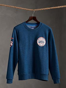 superdry-limited-edition-standard-patch-crew-sweatshirt-dark-blue