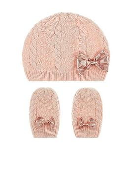 monsoon-baby-girls-poppy-beanie-and-mitten-set-pink