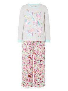monsoon-girls-organic-unicorn-jersey-and-woven-pyjama-set-oatmeal