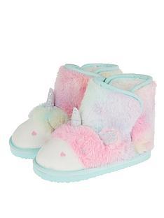 monsoon-girls-fluffy-unicorn-slipper-boot-blue