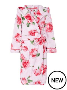 monsoon-girls-sustainable-rose-print-chunky-robe-pink