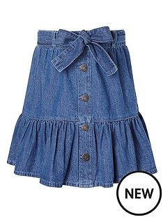 monsoon-girls-denim-frill-skirt-with-belt-blue