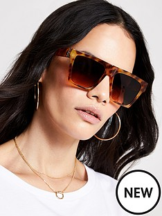 river-island-tortoiseshell-visor-sunglasses-brown