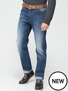 very-man-belted-straightnbsp-leg-jeans--nbspmid-wash