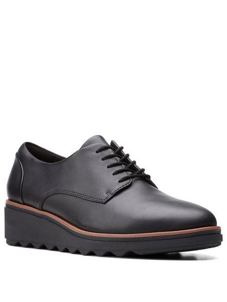 clarks-sharon-noel-leather-brogue-wedge-shoe-black