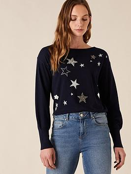 monsoon-recycled-polyester-star-badge-jumper-navy