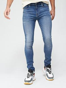 very-man-super-skinnynbspjeansnbspwith-stretch-mid-blue